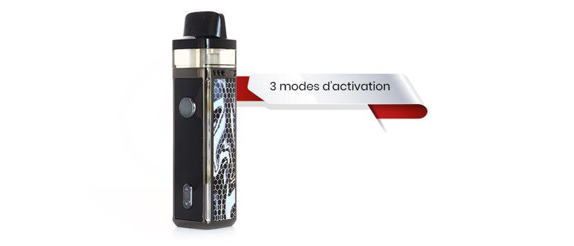 Le pod vinci propose 3 modes d'activation